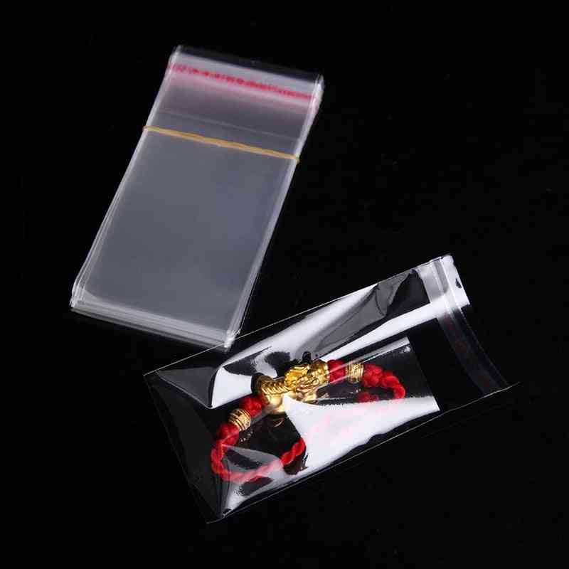 Clear Self Adhesive Small Plastic Resealing Packaging Bags For Candy, Cookie