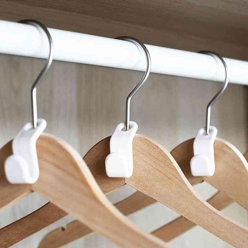 Plastic Magic Extension, Space Saving Coat Hook, Closet Hanger Rack Extension For Wardrobe