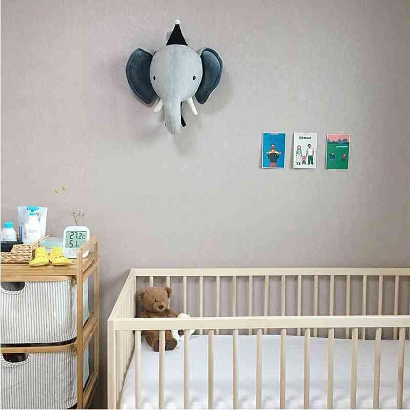 3d Animal Heads Kids Room Decoration - Elephant, Deer, Unicorn, Bunny Head Wall Hanging Decor