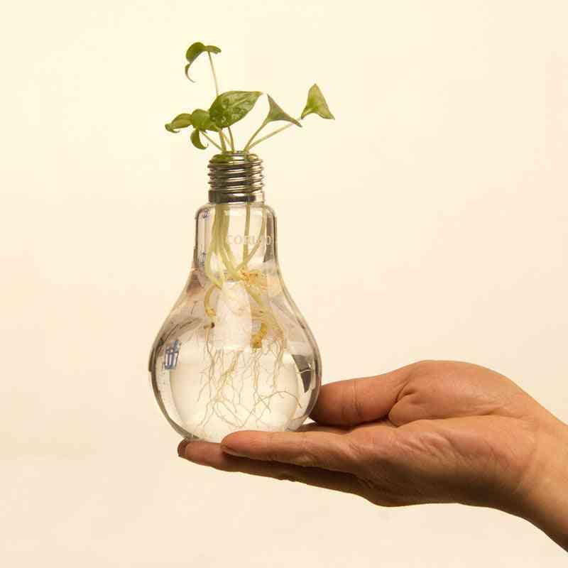 Light Bulb Design-transparent Glass Vase