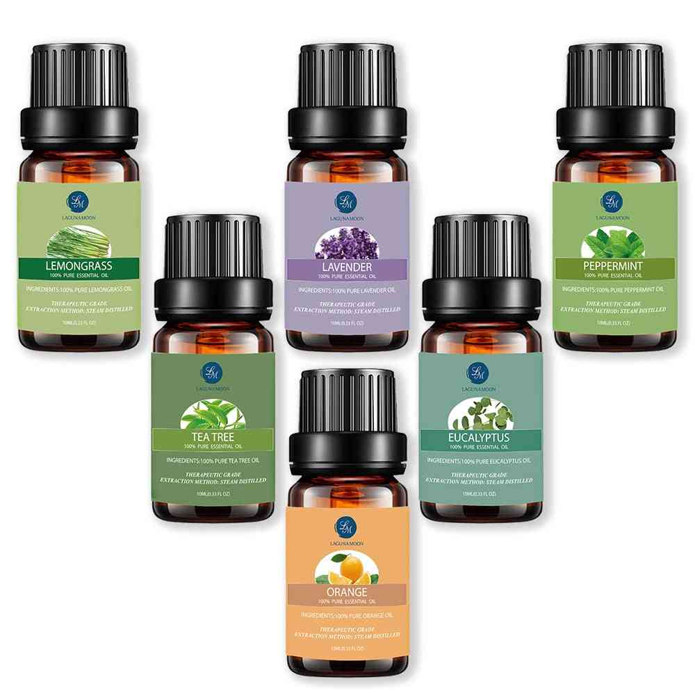 Essential Oil - Made Of Humidifier Papermint, Lemongrass, Orange And Tea Tree