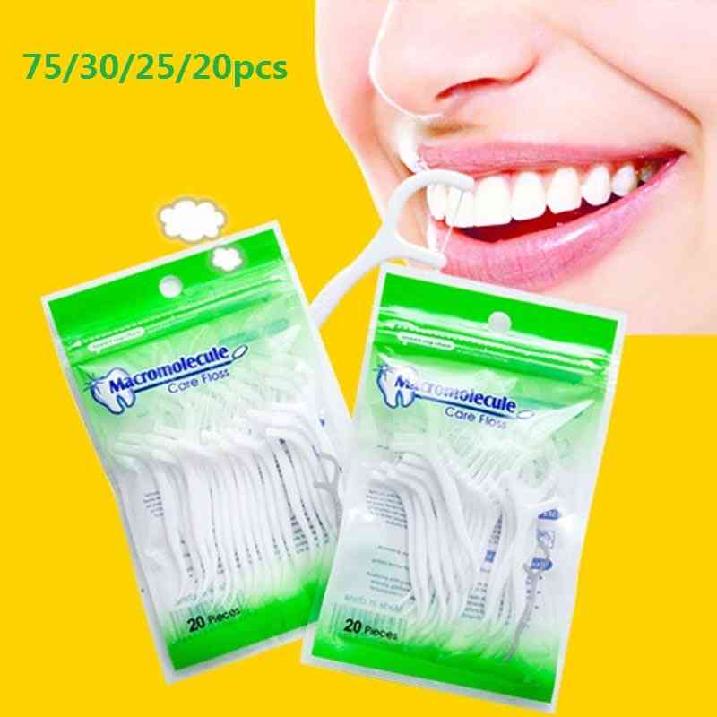 Dental Floss Stick For Teeth Safety
