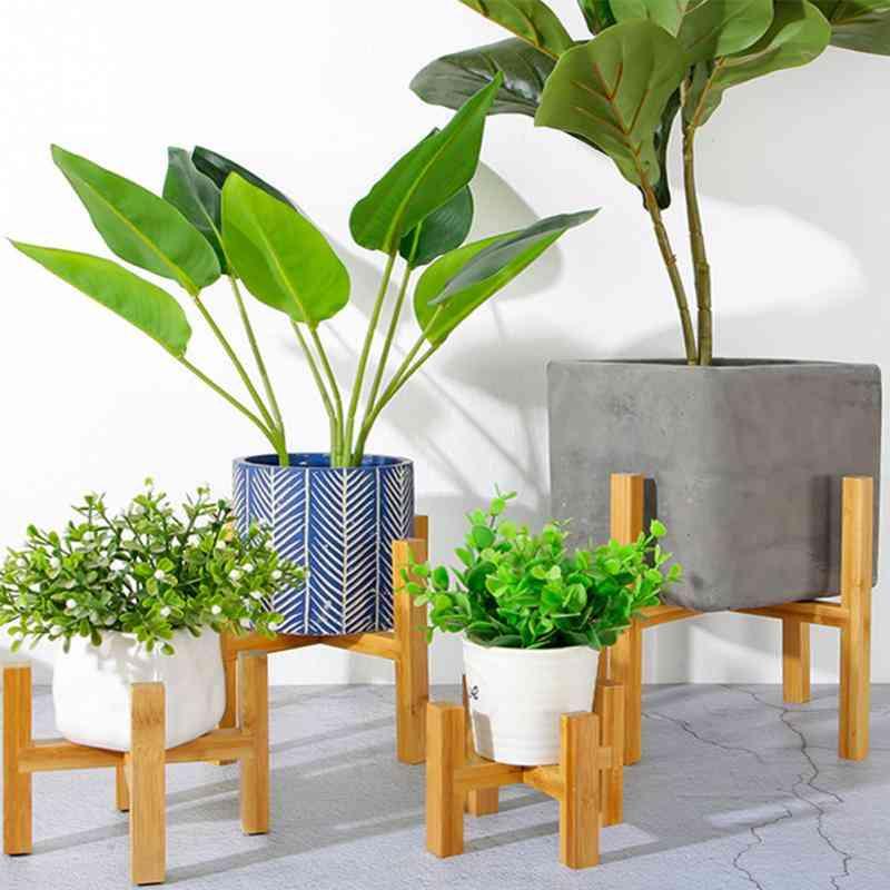 Four Legged, Wooden Slip Bracket For Flower Vase/pot