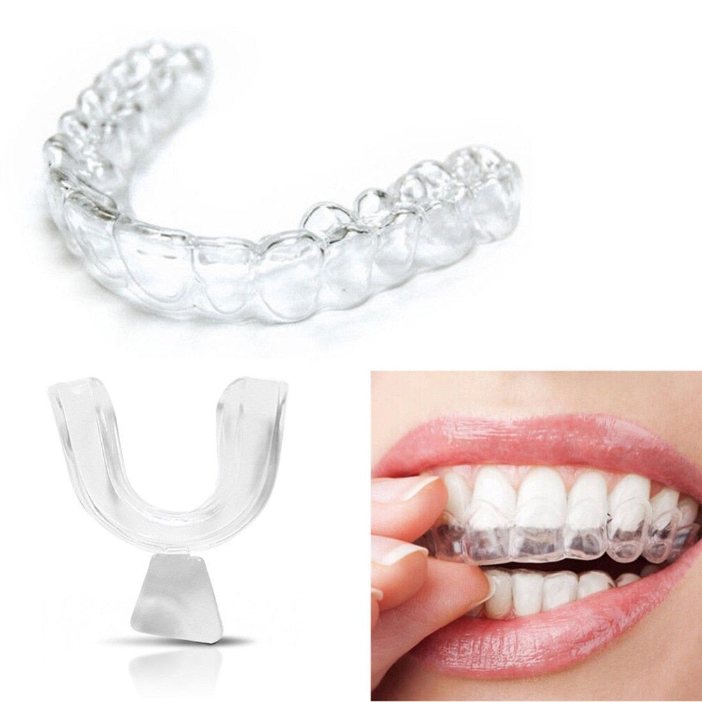Silicone Night Mouth Guard For Teeth Clenching Grinding, Dental Bite Sleep Whitening Teeth Mouth Tray