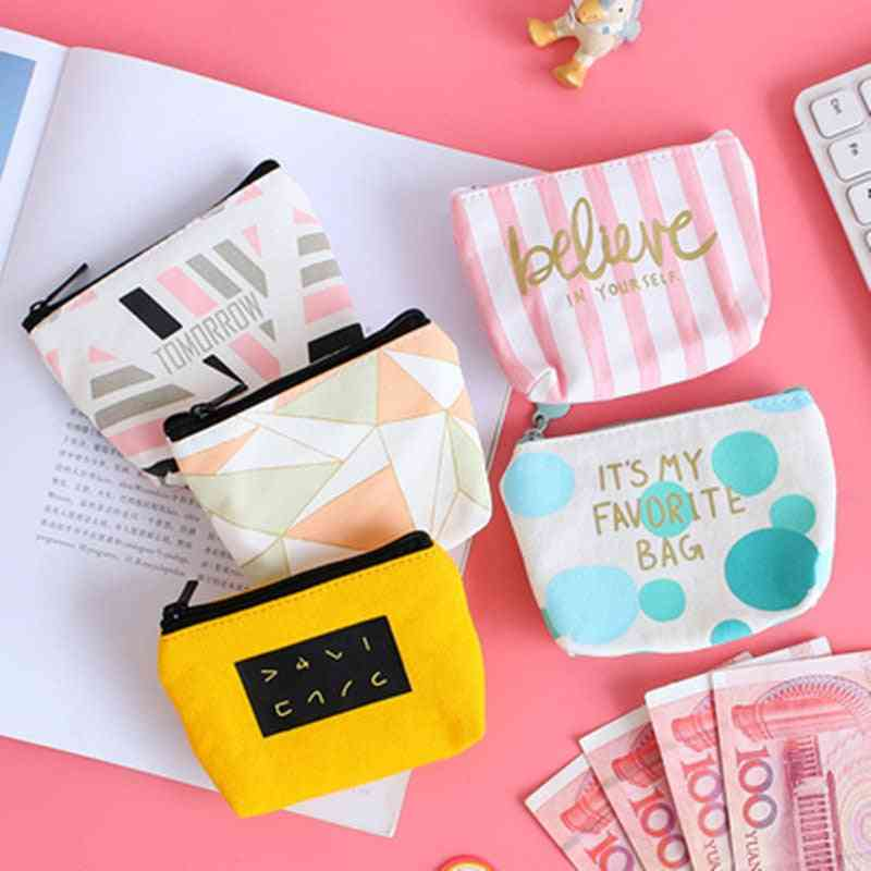 Mini Sanitary Napkin Canvas Coin Purse, Credit Card Holder, Sanitary Pad Pouch