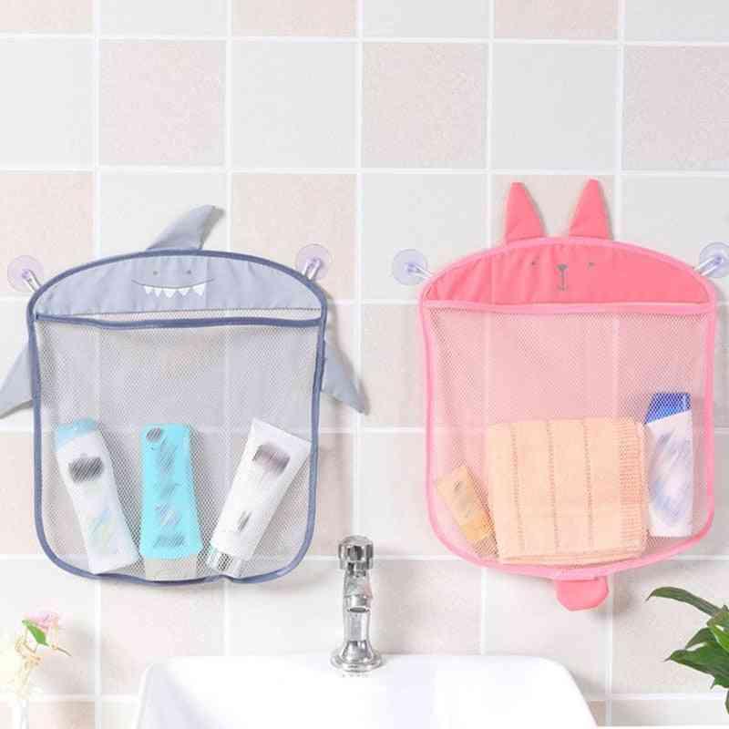 Net Shape Cartoon Hanging Folding Organizer, Storage Bag For Kids Bathing Toy
