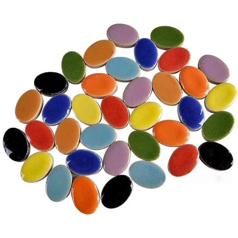 Oval Ultrathin Mosaic Ceramic Making Porcelain Tiles For Jewelry Earring