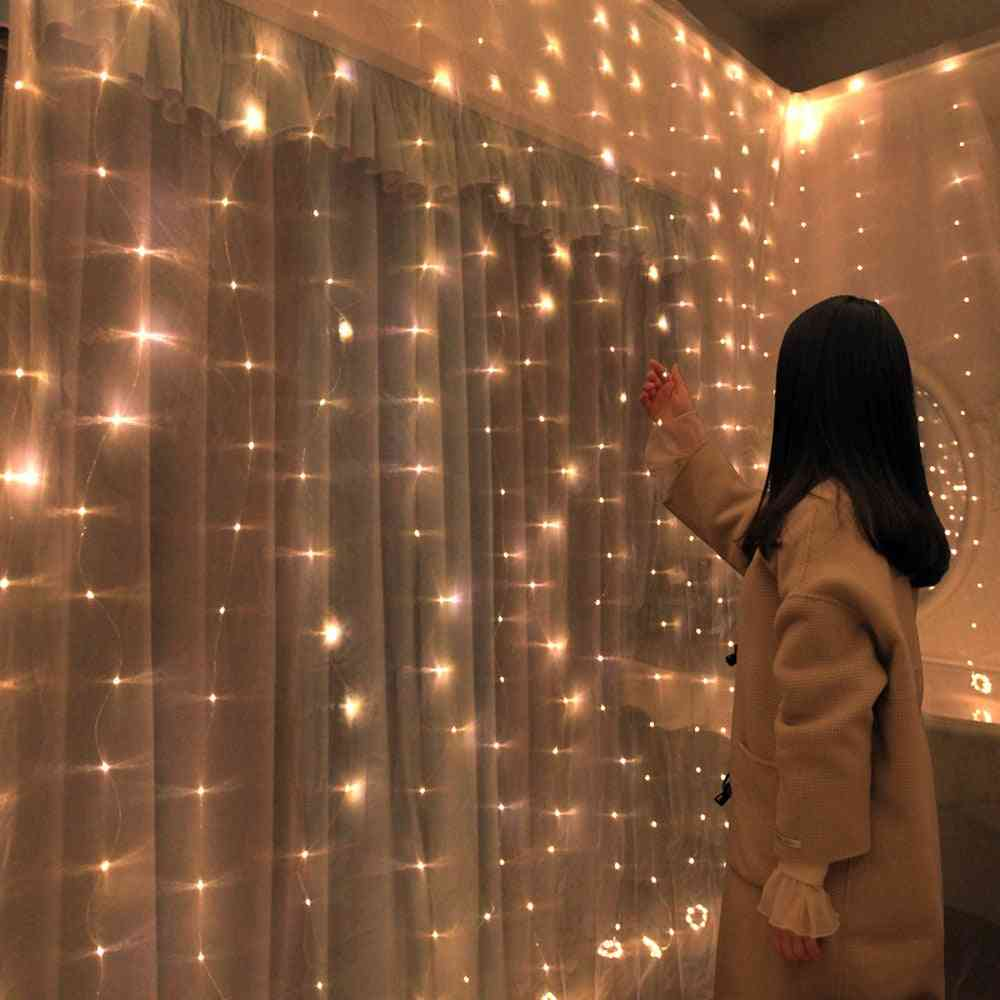 Led Curtain Copper Wire String Valentines Fairy Lights For Christmas Decorations