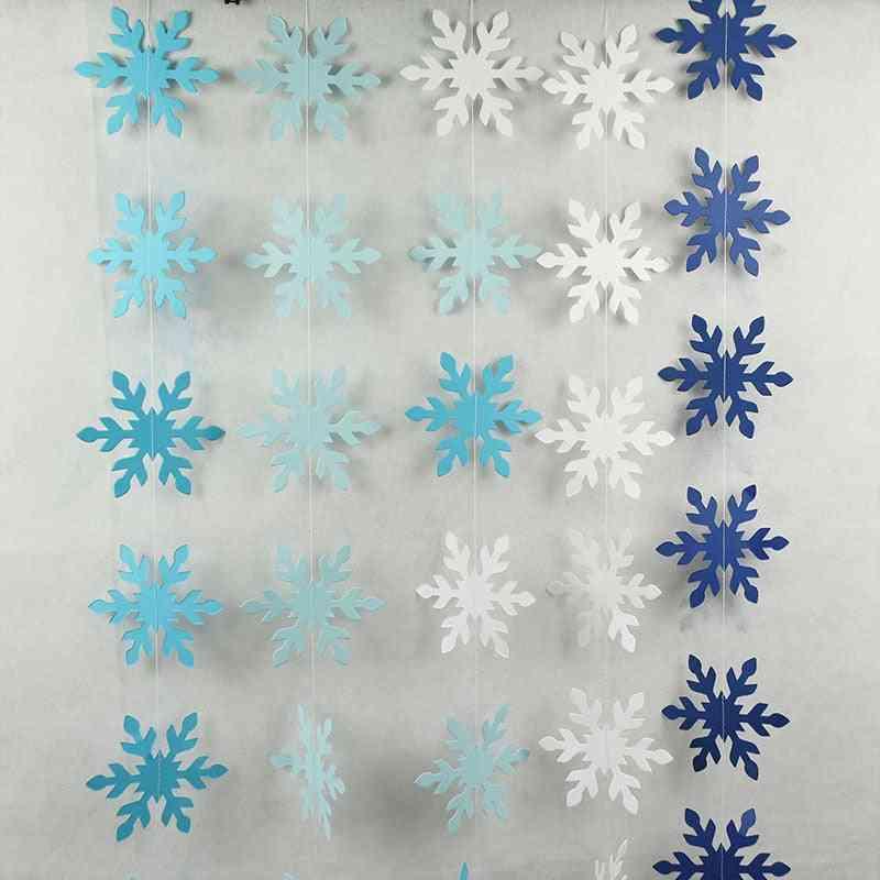 Snowflake Paper - Garlands Diy Hanging Banner