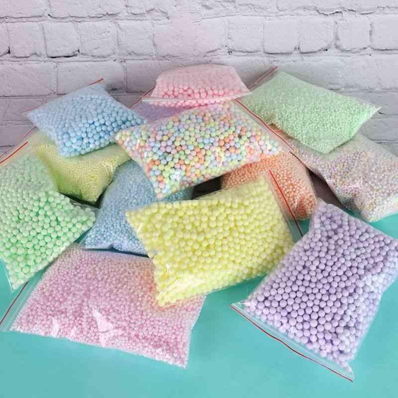 14000pcs Styrofoam Filler Balls Bottle Diy Snow Mud Particles Accessories Slime Balls Small Tiny 2 4mm Foam Beads For Foam ball Ornaments