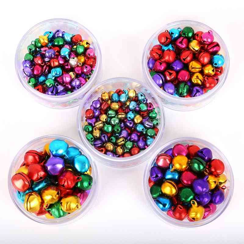 Small Jingle Bells Aluminum Loose Beads For Festival Party, Christmas Tree Decoration