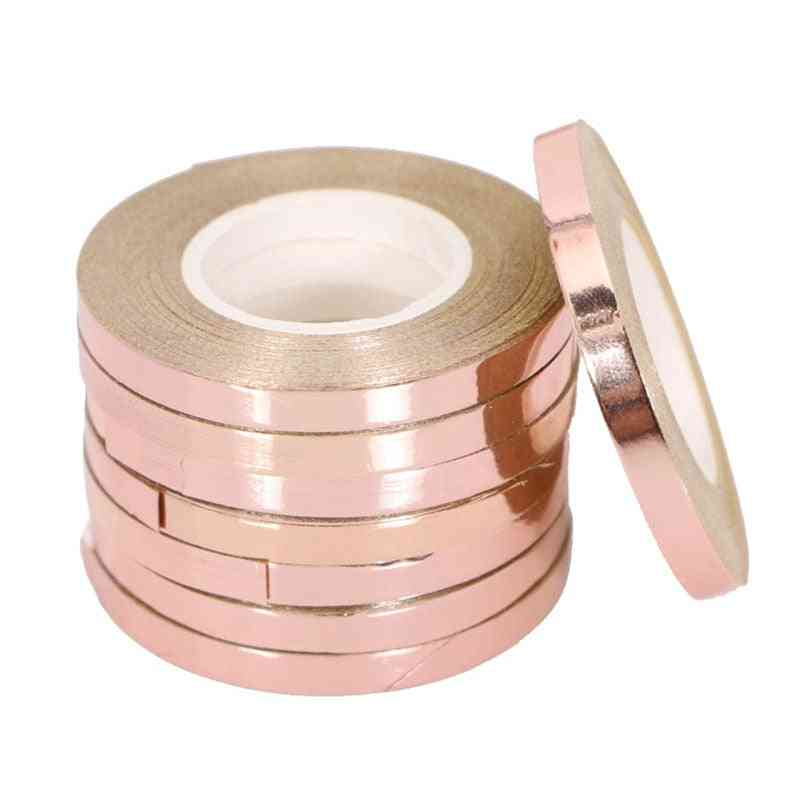5pcs/lot 10m Foil Balloon Laser Ribbon - Rose ,gold Balloon Strings For Event & Party Supplies