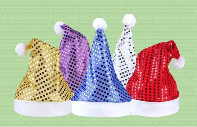 Multi Colors Santa Claus Sequins, Hats ,caps - Christmas Decor Of Adult /'s