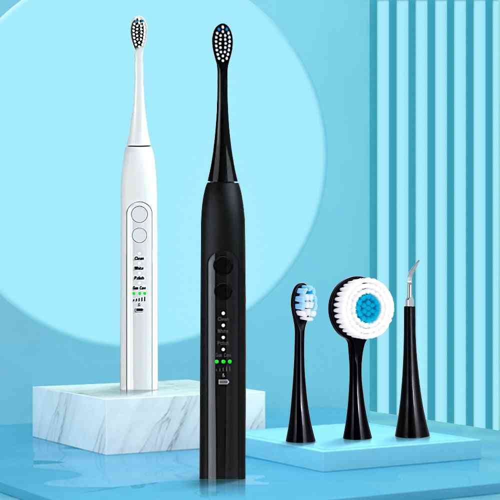 Vip Sonic Electric Toothbrush Rechargeable 12 Modes Ultrasonic Automatic Face, Head Cleansing Brush Machine