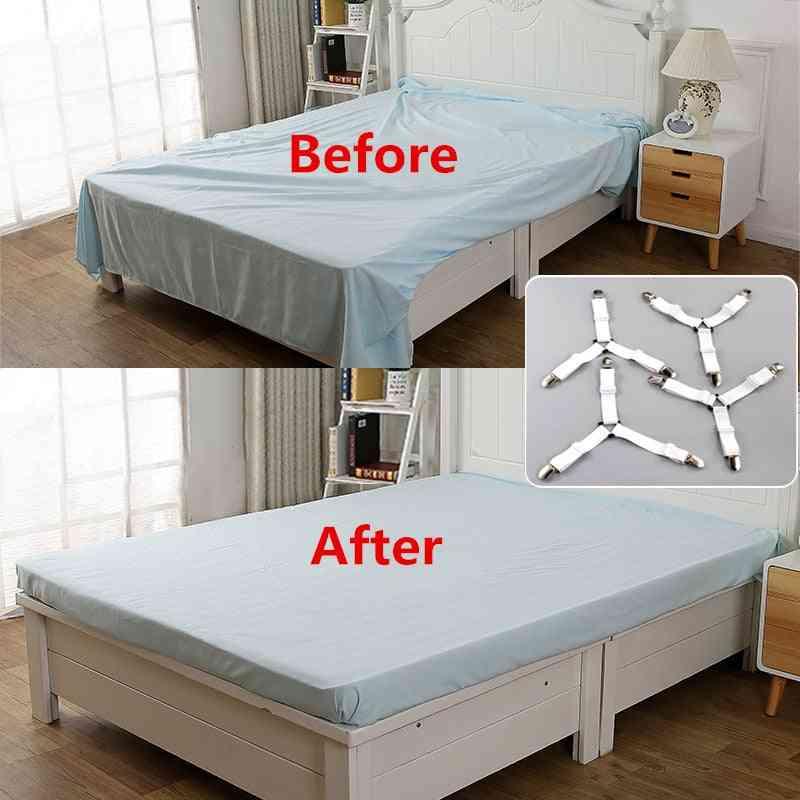 Bed Sheet Clip Bedsheet Belt Fastener Mattress  Elastic Non Slip Clip  Blanket Gripper