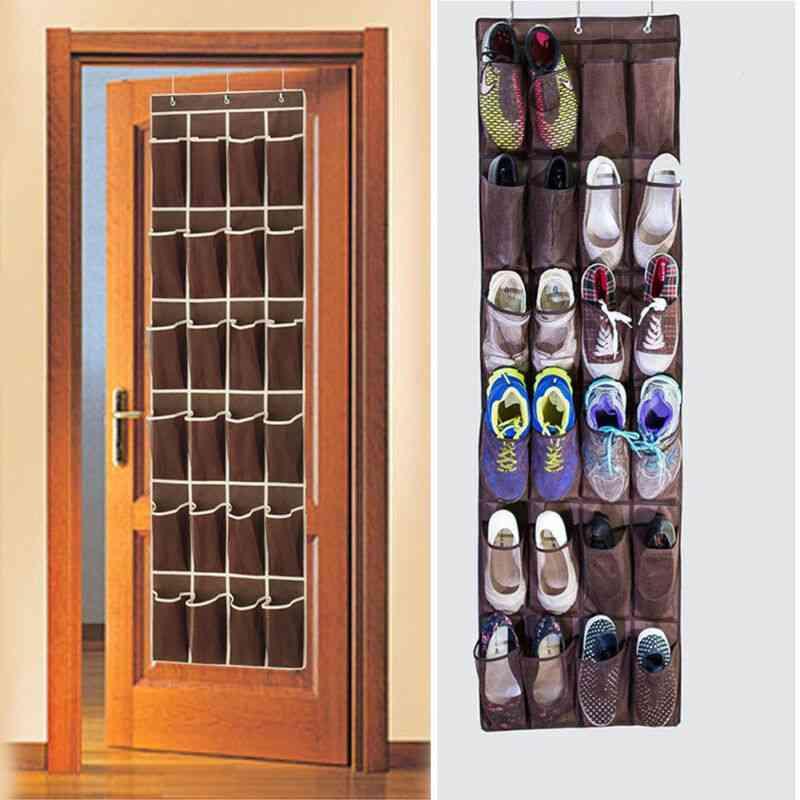 Fast 24 Pocket Shoe Space Door Hanging Organizer