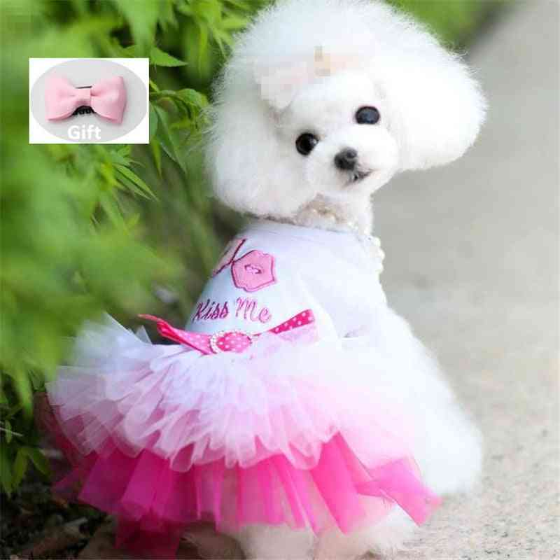 Small Clothes Dogs Dress Sweety Princess Dress Spring Summer Puppy Small Dog Lace Princess Dog