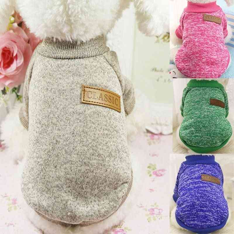 Classic Warm Dog Clothes Puppy Pet Cat Clothes Sweater Jacket Coat Winter Fashion Soft For Small Dogs
