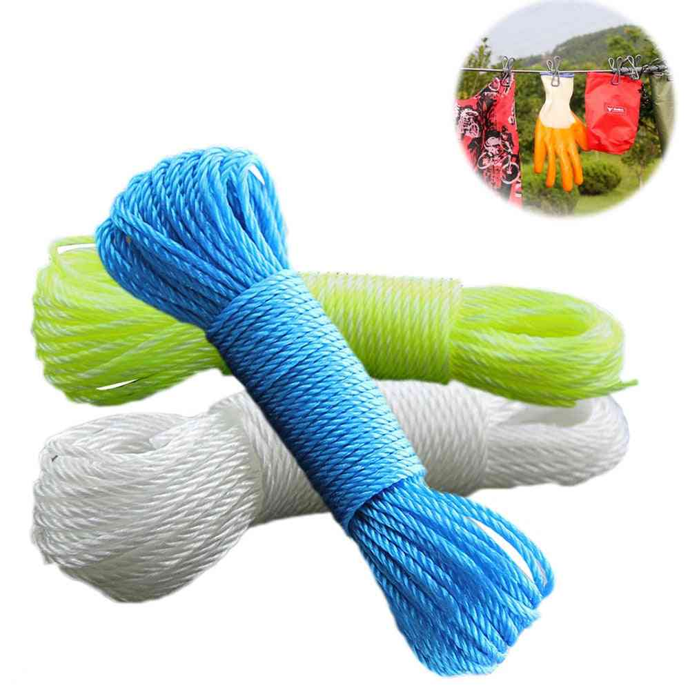Clothes Line Cords Long, Nylon Rope - Drawstring Rope For Garden
