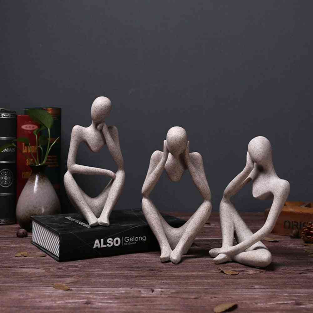 Creative Abstract Thinker People Figurine Craft Office, Home Decor - Forgetive Resin Statues