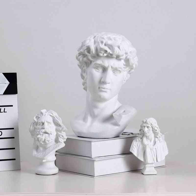 Modern World Famous Statue Retro Art Resin Head Sculpture
