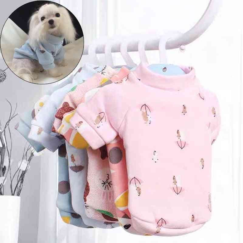 Sweet Pattern Printed, Autum/winter Cloths For Pet Dogs
