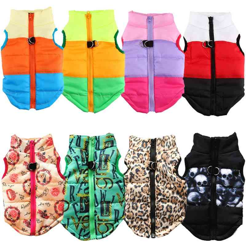 Warm Dog Clothes For Small Dog, Windproof Winter Pet Dog Coat Jacket Padded Clothes Puppy Outfit Vest Clothes