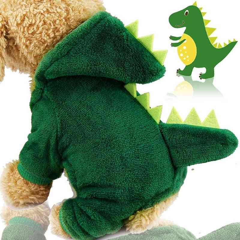 Hoodies Sweatshirt, Dinosaur And Tiger Pattern-winter Warm Clothes For Pet Dog