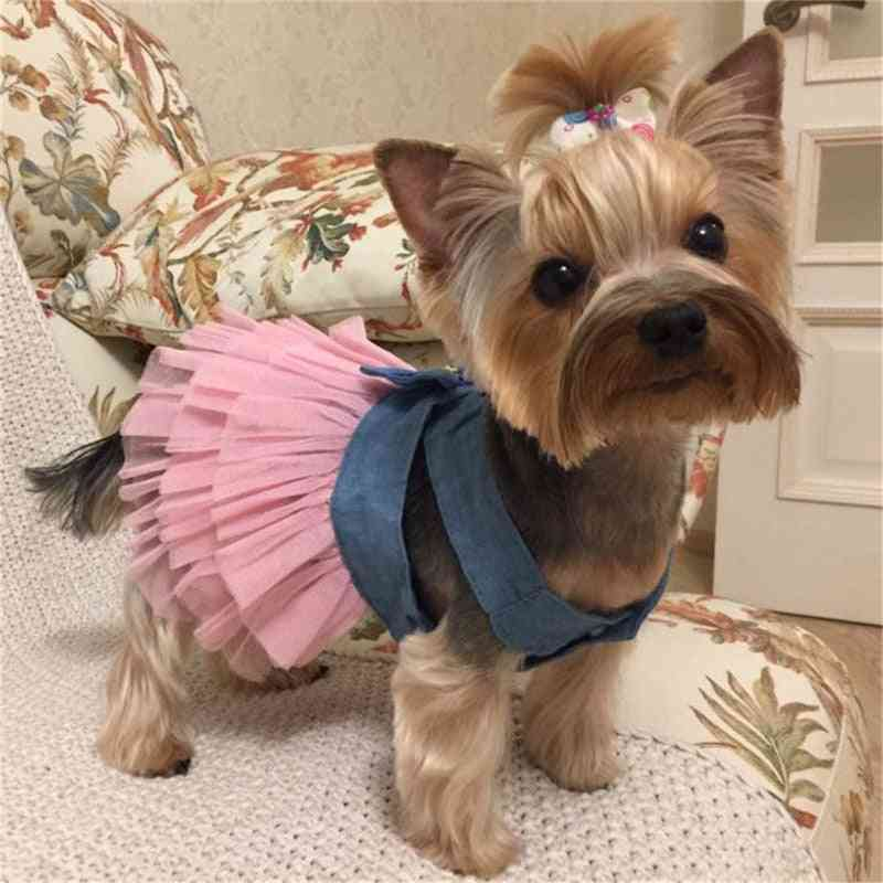 Summer Dress For Dog Clothes, Wedding Dress Skirt Puppy Clothing Spring Dresses For Dogs Jean Pet Clothes