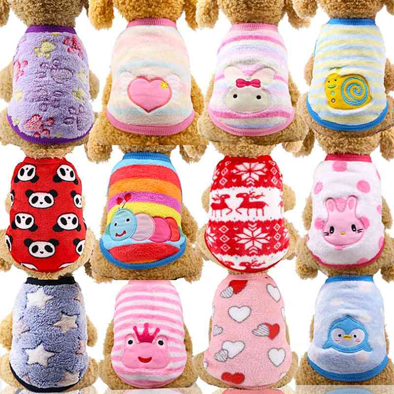 Fleece Clothes For Dog, Clothing For Pet Cats, Costume Outfit Winter Warm Pets Clothing Coat