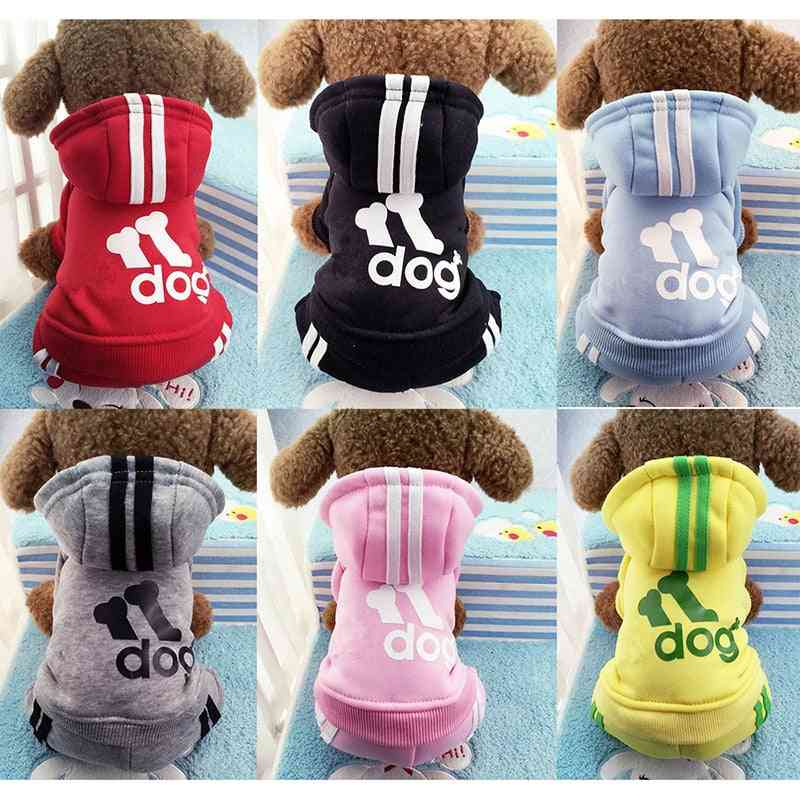 Winter Warm Pet Dog Clothes Soft Cotton Four Legs Hoodies Outfit For Small Dogs Chihuahua Pug Sweater Clothing Puppy Coat Jacket