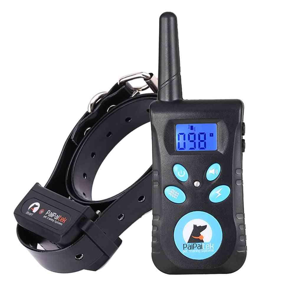 Dog Training Collar With Remote 1500ft Range Dog Training Shock Collar Receiver Automatic Anti Barking Collars