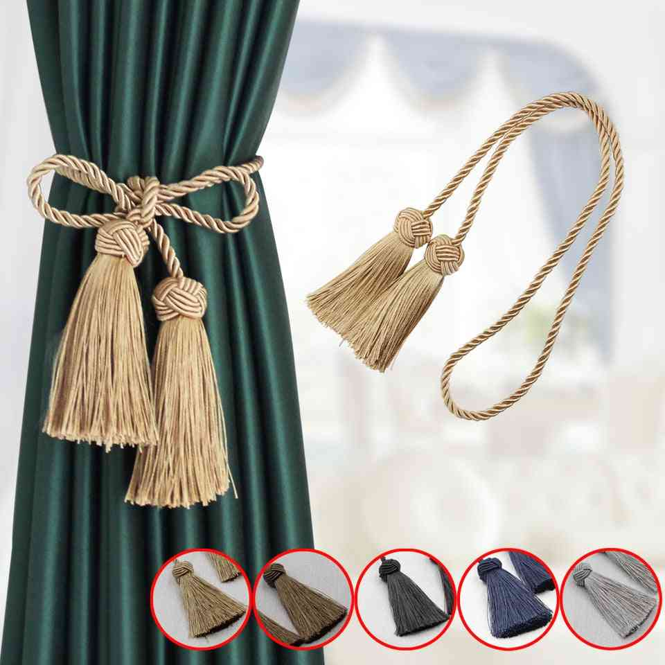 Modern Style Curtain Clip Tassels Rope Tiebacks