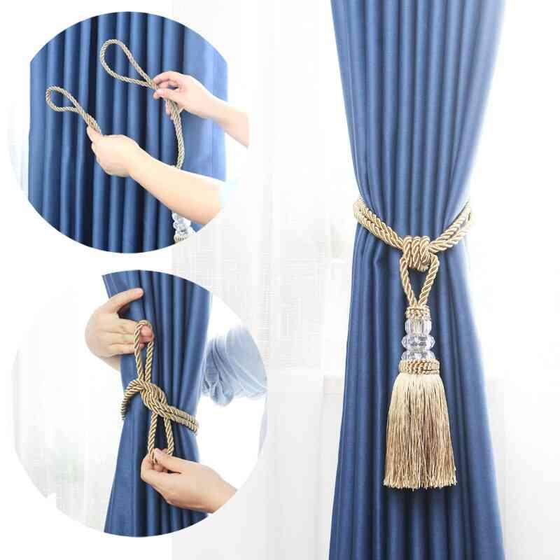 Decorative Crystal Beaded Tassel-curtain Tieback