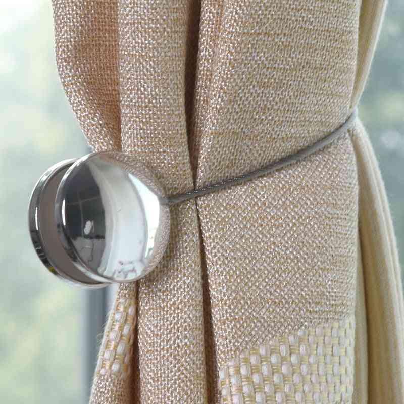 3 Dimensional, Decorative, Embellished Magnet Buckle Strap-curtain Tieback