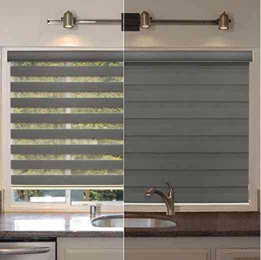 Canada And America Style Plain Color Light Filtering Zebra Blinds