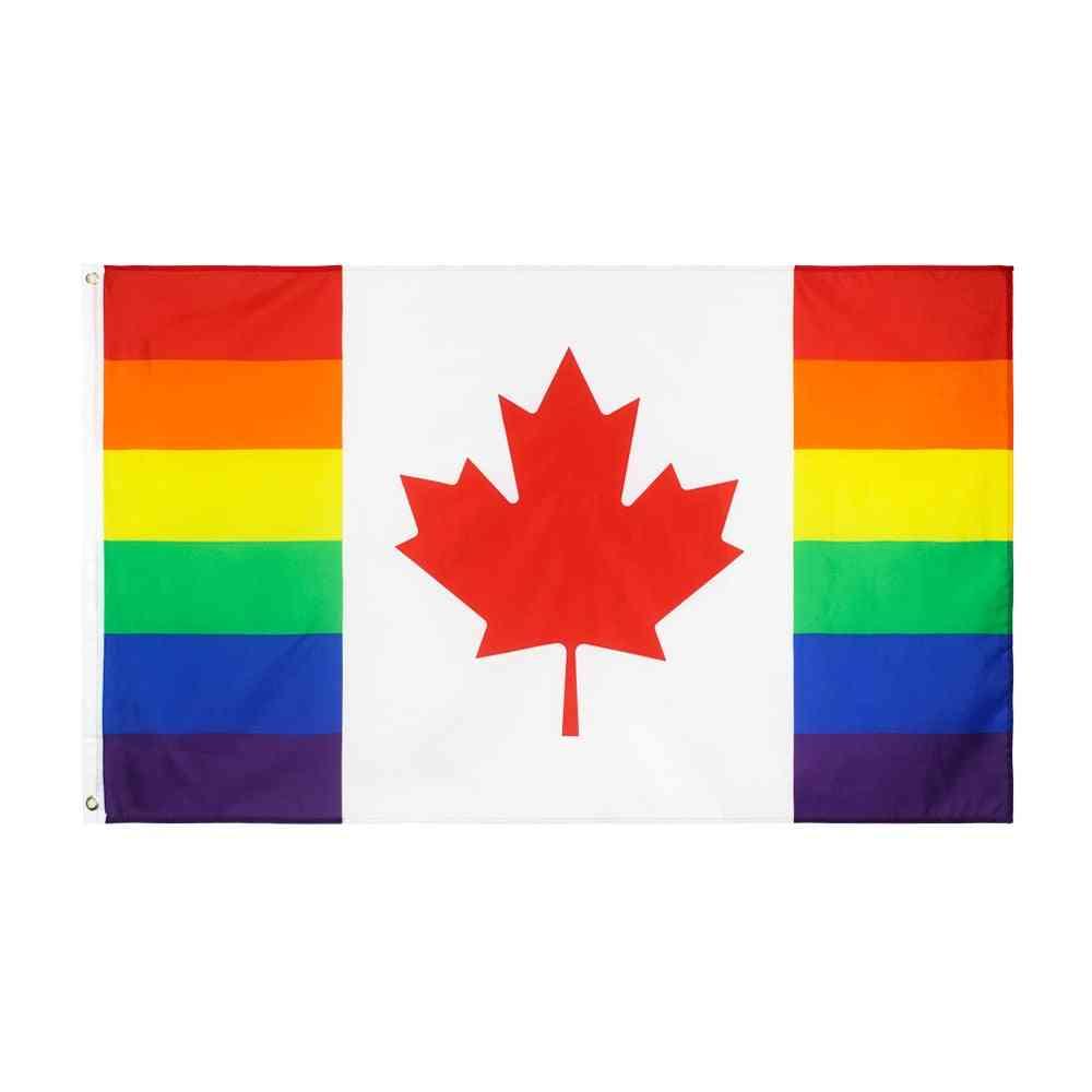 Lgbtqia Lgbt Rainbow Canadian Gay Pride Flag