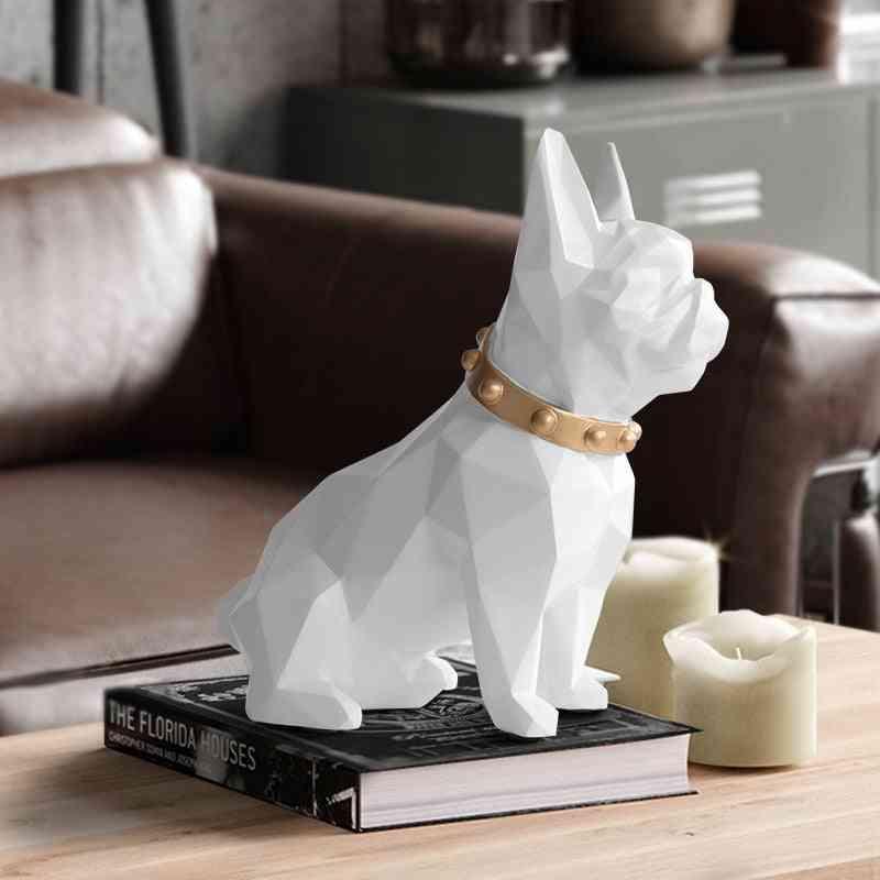 Modern Texture Cute Resin Dog - Piggy Bank