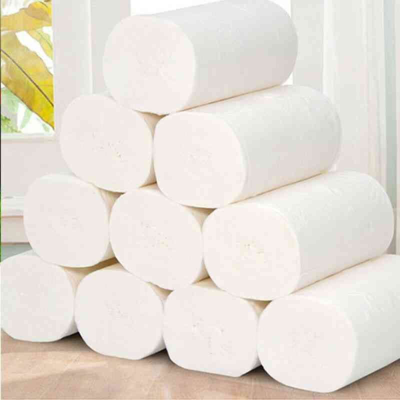 16 Rolls Toilet Paper, 4 Layers Home Bath Toilet Roll Paper Primary Wood Pulp Toilet Paper, Tissue Roll