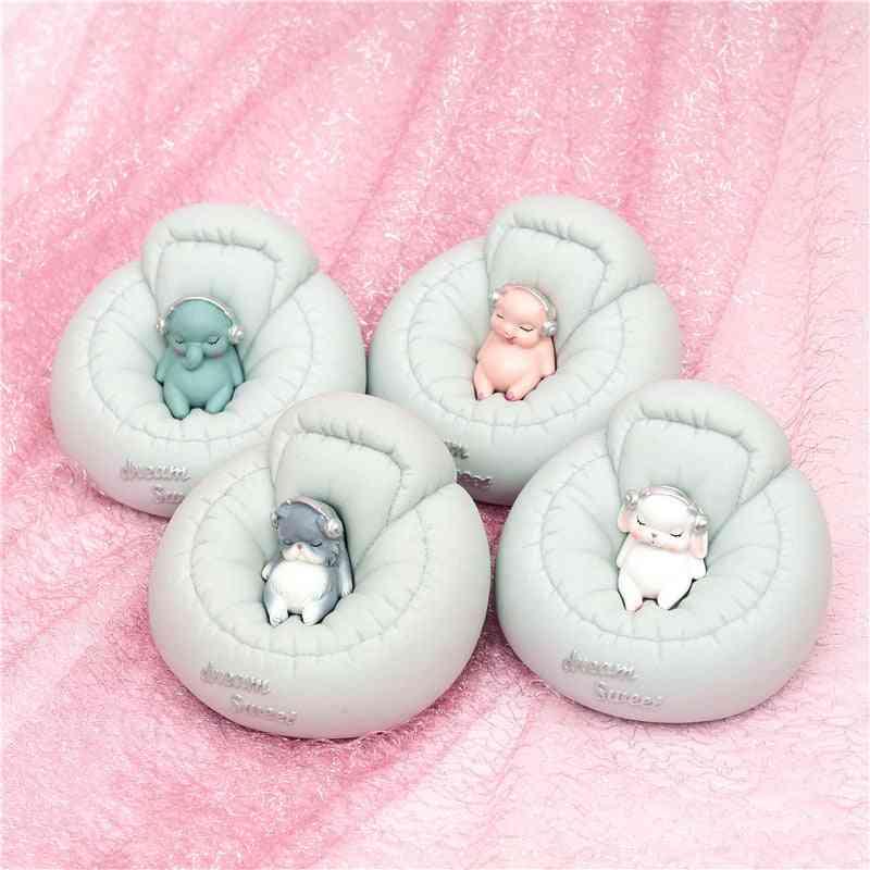 Cute Sofa Cartoon Animal Figurines Piggy Bank