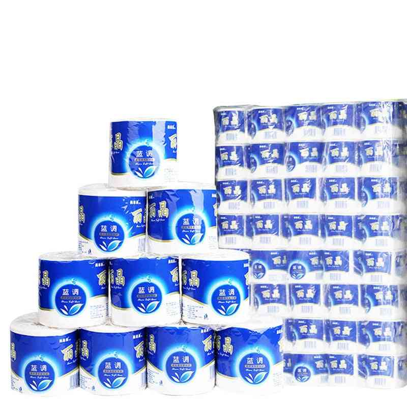6rolls Toilet Roll Paper 3 Layer Home Bath Toilet Roll Paper Primary Wood Pulp Toilet Paper, Tissue Roll