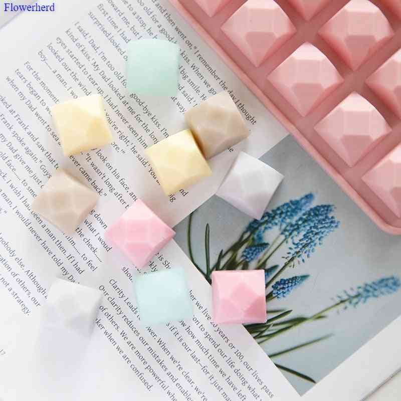 Polygon Silicone Handmade Diy Soap Mold For Chocolate Cake Cookie