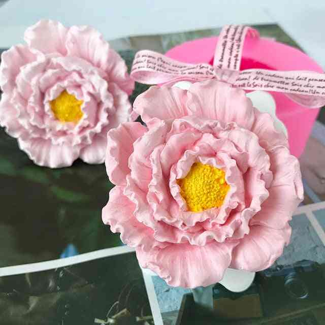 Handmade Peony Flower, Rose Flower Silicone Flower Candle Mould, Diy Soap Mold
