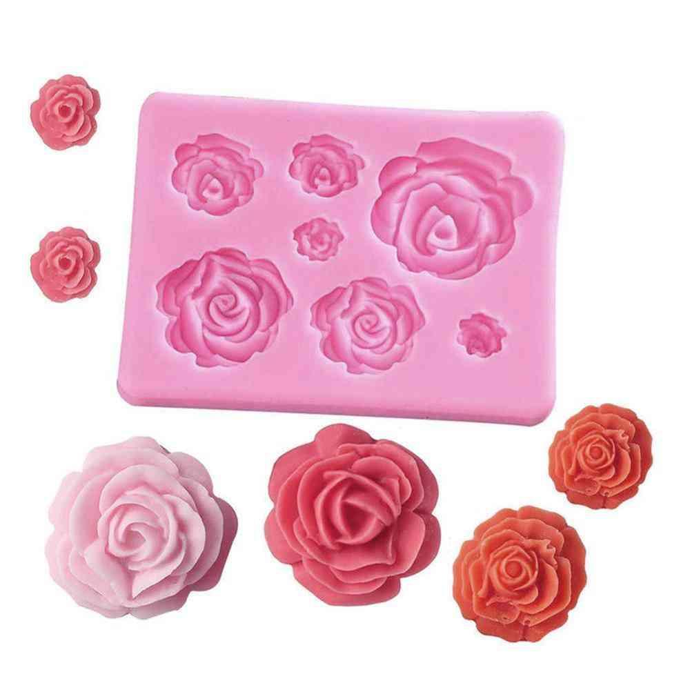 3d Rose Silicone Soap Mold Form Handmade Chocolate, Cake Fondant Decoration
