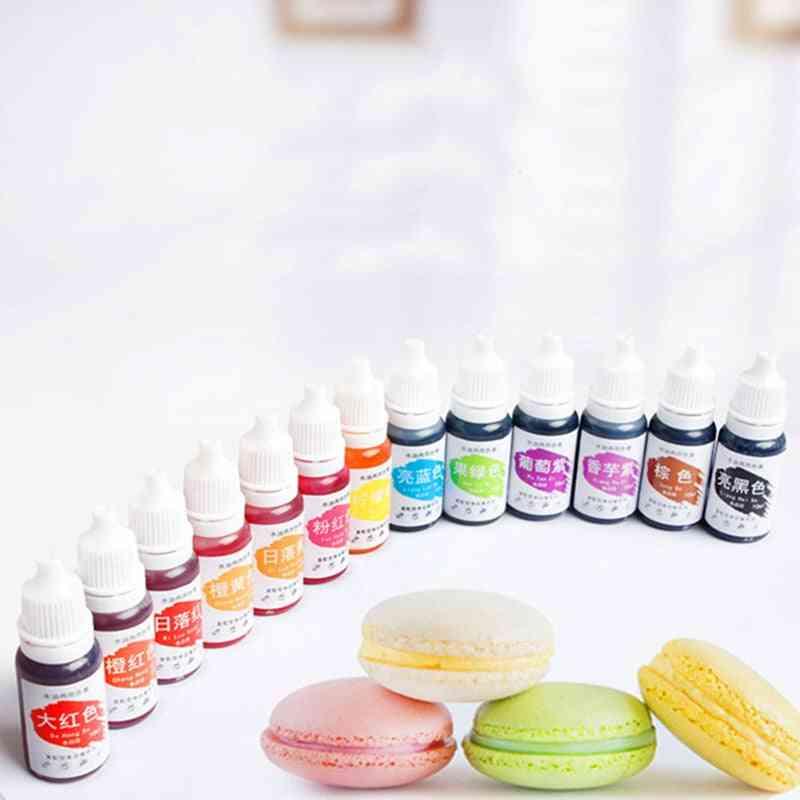 Diy Plasticine Water Oil, Soap Making Coloring Set, Liquid Kit Edible Colorants