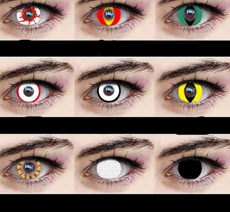 Halloween Inspired, Beautiful Big Pupil-contact Lenses For Eye