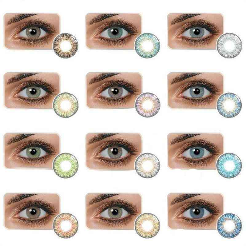 1 Pair Of Fashion 3 Tone Colored Contact Eye Lenses