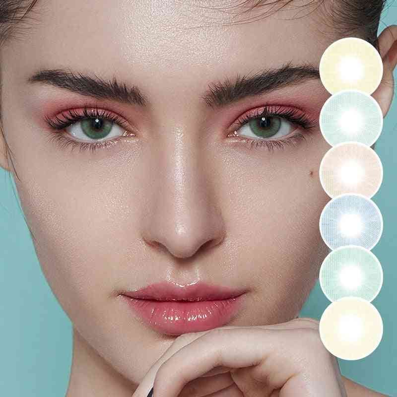 2pcs/pair Natural Colored Contact Lenses For Eyes