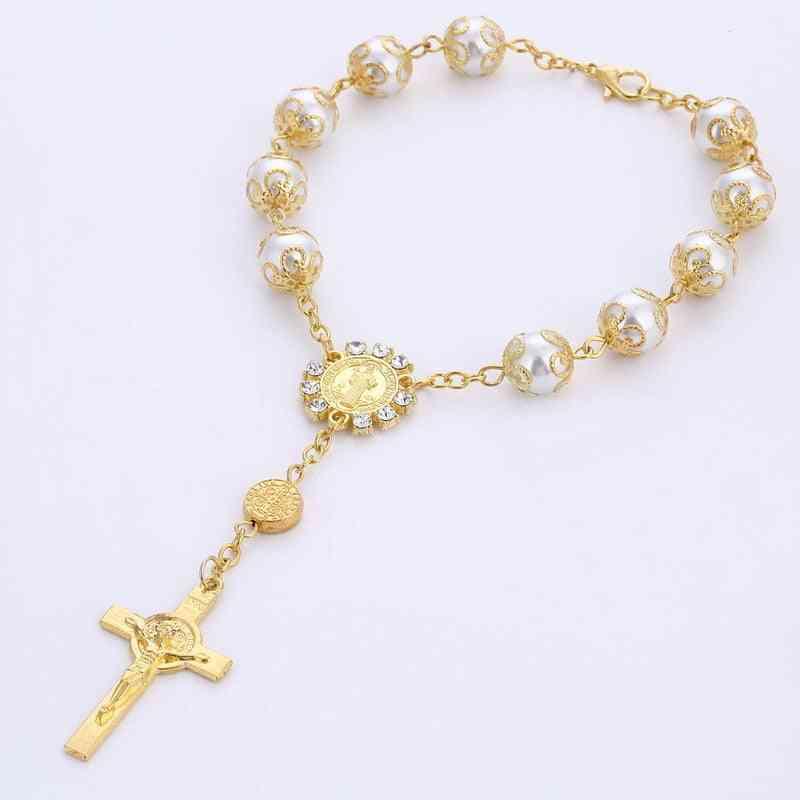 Religious Jewelry Religious Catholic Cross Rosary Bracelet