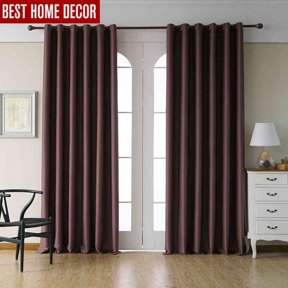 Modern Home Decor Solid Blackout Finished Blinds Curtains